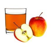 απομονωμένο λευκό χυμού ανασκόπησης μήλων γυαλί Στοκ φωτογραφία με δικαίωμα ελεύθερης χρήσης