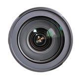 απομονωμένο λευκό όψης φακών φωτογραφικών μηχανών ανασκόπησης μέτωπο Στοκ εικόνα με δικαίωμα ελεύθερης χρήσης