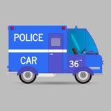 απομονωμένο λευκό ύφους αστυνομίας αυτοκινήτων cartoonish εικόνα επίσης corel σύρετε το διάνυσμα απεικόνισης Στοκ εικόνα με δικαίωμα ελεύθερης χρήσης