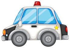 απομονωμένο λευκό ύφους αστυνομίας αυτοκινήτων cartoonish εικόνα Στοκ Εικόνα