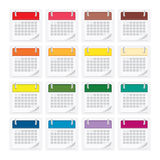 Απομονωμένο ημερολόγιο υπόβαθρο εικονιδίων Στοκ φωτογραφία με δικαίωμα ελεύθερης χρήσης