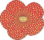 Απομονωμένο διάνυσμα στοιχείο λουλουδιών Rafflesia τροπικό Εξωτικός Floral Στοκ Εικόνες