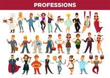 Απομονωμένο διάνυσμα σύνολο επαγγελμάτων και ειδικών επαγγέλματος ελεύθερη απεικόνιση δικαιώματος