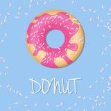 Απομονωμένο διάνυσμα doughnut Στοκ Φωτογραφίες