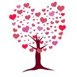 απομονωμένο διάφορο διάνυσμα δέντρων σημαδιών αντικειμένου αγάπης λογότυπων Στοκ Εικόνες