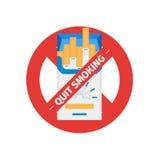 Απομονωμένο διανυσματικό σημάδι του καπνίζοντας τσιγάρου στάσεων Στοκ Εικόνες