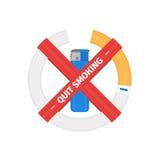 Απομονωμένο διανυσματικό σημάδι του καπνίζοντας τσιγάρου στάσεων Στοκ εικόνα με δικαίωμα ελεύθερης χρήσης