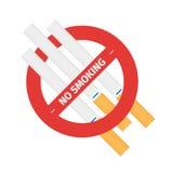 Απομονωμένο διανυσματικό σημάδι του καπνίζοντας τσιγάρου στάσεων Στοκ εικόνες με δικαίωμα ελεύθερης χρήσης
