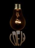 απομονωμένο ιδέα φως βολβών ανασκόπησης μαύρο Στοκ φωτογραφίες με δικαίωμα ελεύθερης χρήσης