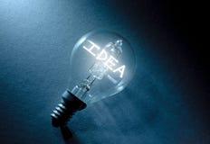 απομονωμένο ιδέα φως βολβών ανασκόπησης μαύρο Στοκ Εικόνες