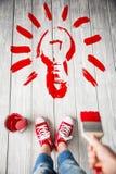 απομονωμένο ιδέα φως βολβών ανασκόπησης μαύρο Στοκ φωτογραφία με δικαίωμα ελεύθερης χρήσης