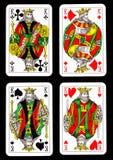 απομονωμένο κάρτες παιχνί&del Στοκ φωτογραφία με δικαίωμα ελεύθερης χρήσης