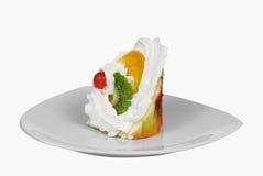απομονωμένο κέικ πιάτο triunghiular Στοκ Φωτογραφία