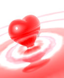 απομονωμένο καρδιά υγρό Στοκ Εικόνα