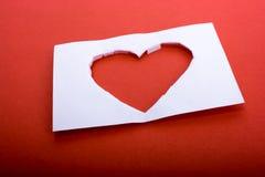 απομονωμένο καρδιά λευκό ντοματών μορφής Στοκ Φωτογραφία