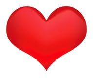 απομονωμένο καρδιά λευκό συμβόλων Στοκ φωτογραφία με δικαίωμα ελεύθερης χρήσης