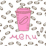 απομονωμένο καφές λευκό καταλόγων επιλογής Στοκ Εικόνα
