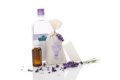 απομονωμένο καλλυντικά lavender λευκό Στοκ Φωτογραφία