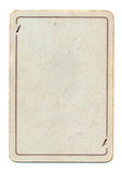 Απομονωμένο κενό παλαιό έγγραφο καρτών παιχνιδιού Στοκ Εικόνες