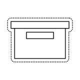 απομονωμένο κιβώτιο εικονίδιο συσκευασίας γραφείων Στοκ Εικόνες