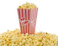 απομονωμένο κιβώτιο popcorn κόκκινο λευκό στοκ εικόνα με δικαίωμα ελεύθερης χρήσης