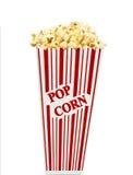 απομονωμένο κιβώτιο popcorn κόκκινο λευκό στοκ εικόνες με δικαίωμα ελεύθερης χρήσης