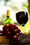 απομονωμένο κρασί waite του OM κόκκινο Στοκ εικόνα με δικαίωμα ελεύθερης χρήσης
