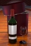 απομονωμένο κρασί waite του OM κόκκινο Στοκ Εικόνες