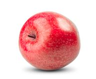 Απομονωμένο κόκκινο μήλο στο άσπρο υπόβαθρο Φρέσκια διατροφή στοκ φωτογραφίες