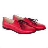 Απομονωμένο κόκκινο παπούτσι της Οξφόρδης Στοκ φωτογραφία με δικαίωμα ελεύθερης χρήσης