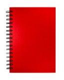 Απομονωμένο κόκκινο σημειωματάριο Στοκ φωτογραφίες με δικαίωμα ελεύθερης χρήσης