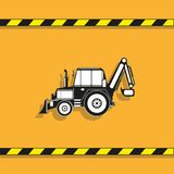απομονωμένο λευκό αντικειμένου μηχανημάτων κατασκευής ανασκόπησης εκσκαφέας τρακτέρ διάνυσμα εικονιδίων εργαλείων Στοκ φωτογραφία με δικαίωμα ελεύθερης χρήσης