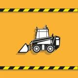 απομονωμένο λευκό αντικειμένου μηχανημάτων κατασκευής ανασκόπησης εκσκαφέας Φορτωτής διάνυσμα εικονιδίων εργαλείων Στοκ Εικόνες