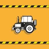 απομονωμένο λευκό αντικειμένου μηχανημάτων κατασκευής ανασκόπησης εκσκαφέας τρακτέρ διάνυσμα εικονιδίων εργαλείων Στοκ εικόνα με δικαίωμα ελεύθερης χρήσης