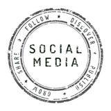 απομονωμένο λευκό γραμματοσήμων μέσων κοινωνικό Στοκ Εικόνα
