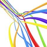 απομονωμένο λευκό γραμμών Στοκ Εικόνα