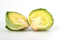 απομονωμένο λευκό κραμπολάχανου λάχανων ανασκόπησης κεφάλι Στοκ εικόνα με δικαίωμα ελεύθερης χρήσης