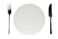 απομονωμένο λευκό πιάτων Στοκ εικόνα με δικαίωμα ελεύθερης χρήσης