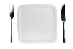 απομονωμένο λευκό πιάτων Στοκ Φωτογραφίες