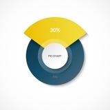 απομονωμένο λευκό πιτών επιχειρησιακών διαγραμμάτων γραφικές παραστάσεις Μερίδιο 30 και 70 τοις εκατό Διάγραμμα κύκλων για Infogr διανυσματική απεικόνιση