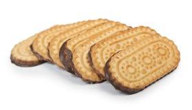 απομονωμένο λευκό στοιβών ανασκόπησης μπισκότα Στοκ Εικόνα