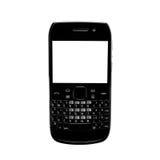 απομονωμένο λευκό smartphone οθόνης qwerty αριθμητικών πληκτρολογίων Στοκ Εικόνες
