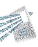απομονωμένο λευκό smartphone Στοκ Εικόνα