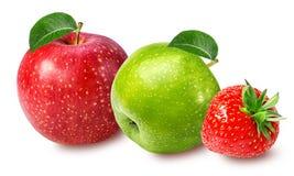 απομονωμένο μήλο λευκό φ&rho Στοκ φωτογραφία με δικαίωμα ελεύθερης χρήσης