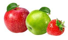 απομονωμένο μήλο λευκό φ&rho Στοκ Εικόνες
