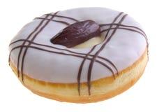 απομονωμένο μακρο λευκό φωτογραφιών ανασκόπησης doughnut Στοκ Φωτογραφία