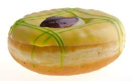 απομονωμένο μακρο λευκό φωτογραφιών ανασκόπησης doughnut Στοκ Φωτογραφίες