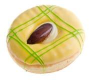 απομονωμένο μακρο λευκό φωτογραφιών ανασκόπησης doughnut Στοκ Εικόνες