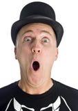 απομονωμένο μαύρο καπέλο &la Στοκ φωτογραφίες με δικαίωμα ελεύθερης χρήσης