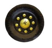 Απομονωμένο μαύρο gong στοκ εικόνες με δικαίωμα ελεύθερης χρήσης